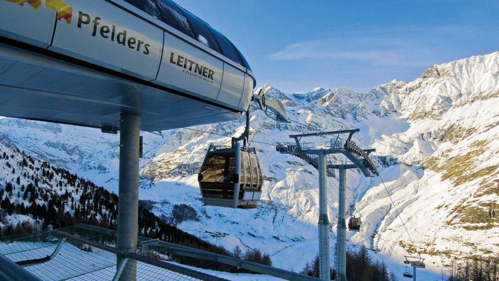 Pfelders Seilbahn im Winter